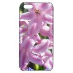 Cubierta rosada del iphone del jacinto