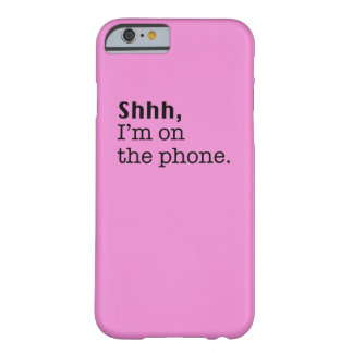Cubierta rosada del iPhone Funda Barely There iPhone 6