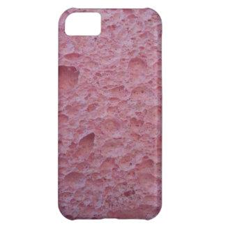 Cubierta rosada del teléfono de la esponja funda para iPhone 5C