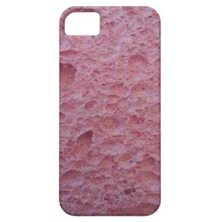 Cubierta rosada del teléfono de la esponja funda para iPhone SE/5/5s