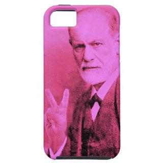 Cubierta rosada del teléfono móvil de Freud Funda Para iPhone 5 Tough
