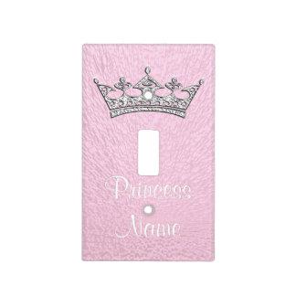 Cubierta rosada personalizada de la princesa placa para interruptor