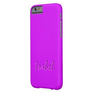 Cubierta rosada sólida del iPhone 6. de Isabel Funda De iPhone 6 Barely There