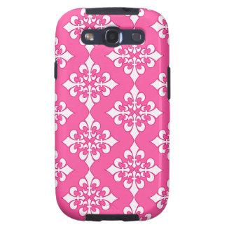 Cubierta rosada y blanca del teléfono del modelo d galaxy SIII coberturas