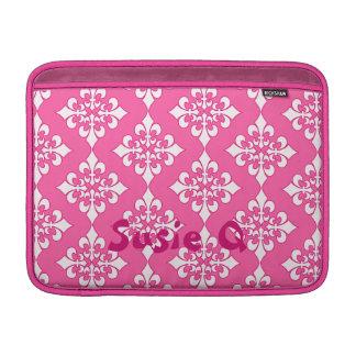 Cubierta rosada y blanca del teléfono del modelo d funda  MacBook