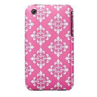 Cubierta rosada y blanca del teléfono del modelo iPhone 3 cárcasas