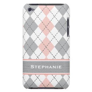 Cubierta rosada y gris del caso del tacto 4g de Case-Mate iPod touch cárcasa