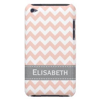 Cubierta rosada y gris del caso del tacto 4g de iPod Case-Mate protector