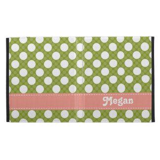 Cubierta rosada y verde de la caja del folio del i