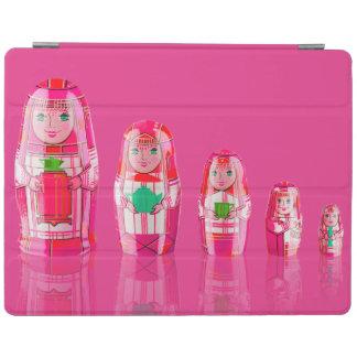 Cubierta rusa rosada del iPad 2/3/4 de las muñecas Cubierta De iPad