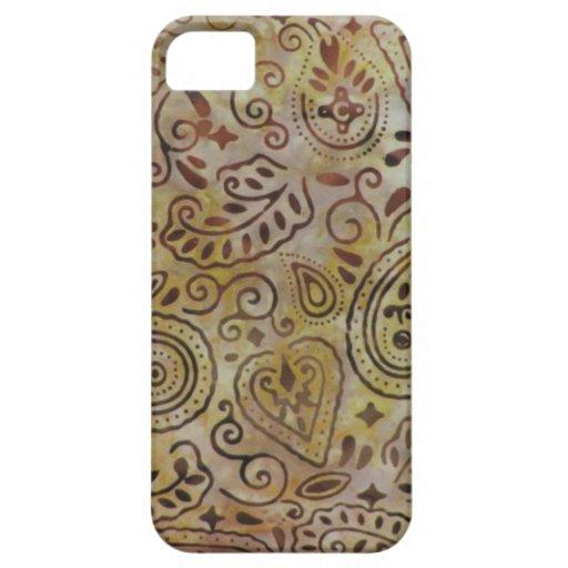 Cubierta rústica del iPhone 5 de Paisley del iPhone 5 Fundas