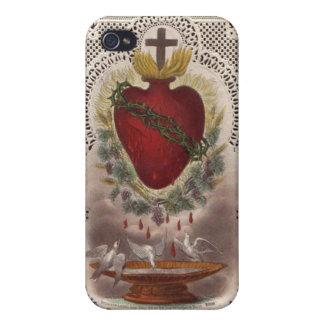 Cubierta sagrada del iPhone 4/4s del corazón iPhone 4/4S Funda