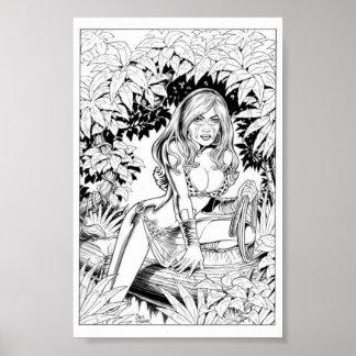 Cubierta salvaje de la belleza #1 póster