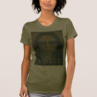 Cubierta santa de la cara camisetas