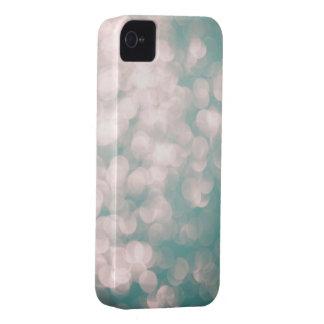 Cubierta suave del iphone del verde azul del brill iPhone 4 Case-Mate cárcasa