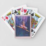 Cubierta subacuática del bailarín de ballet de tar cartas de juego