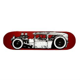 Cubierta tajada de Rod de coche de carreras/de la  Tablas De Patinar