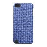 Cubierta tejida azul de iPod de la textura