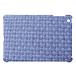 Cubierta tejida azul del ipad de la textura