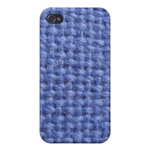Cubierta tejida azul del iphone 4 de la textura iPhone 4/4S carcasas