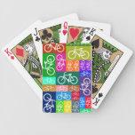 Cubierta temática de la bicicleta de los naipes de baraja de cartas