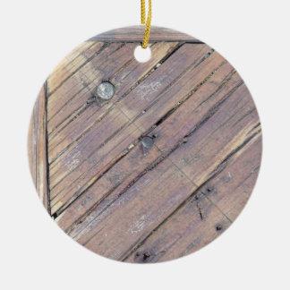 Cubierta texturizada áspera de madera resistida ornamento para reyes magos
