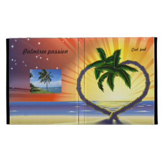 Cubierta tropical del yo-cojín de la palmera