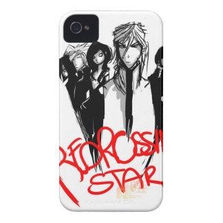 Cubierta variable cómica de la estrella rusa roja  iPhone 4 Case-Mate cárcasa