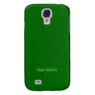 Cubierta verde de la galaxia de Samsung del estilo