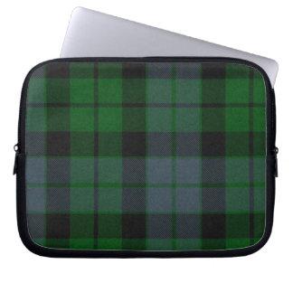 Cubierta verde del ordenador portátil de la tela e funda portátil