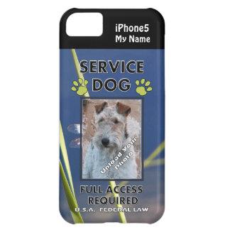 Cubierta verde del perro iPhone5 del servicio de l