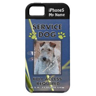 Cubierta verde del perro iPhone5 del servicio de l iPhone 5 Funda