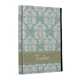 Cubierta verde y azul de la caja del folio del iPa