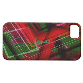Cubierta verde y roja del iPhone 5 para Jonas Funda Para iPhone 5 Barely There