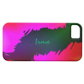 Cubierta verde y rosada del iPhone 5 para Irma Funda Para iPhone SE/5/5s