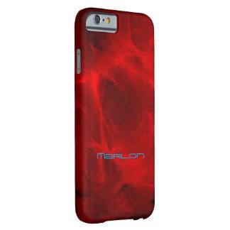 Cubierta veteada rojo del iPhone del estilo de Funda Para iPhone 6 Barely There