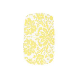 Cubiertas blancas amarillas del clavo del damasco pegatina para manicura