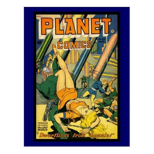 Cubiertas de cómic del vintage de la postal