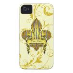 Cubiertas de Fleur de flute Electronic iPhone 4 Case-Mate Protector