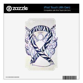 Cubiertas de iPod del ángel de la cinta de la iPod Touch 4G Skins