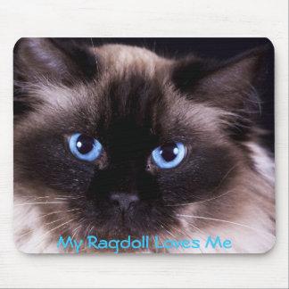 Cubiertas de Ragdoll IPhone y de IPad y cojín de r Alfombrillas De Raton