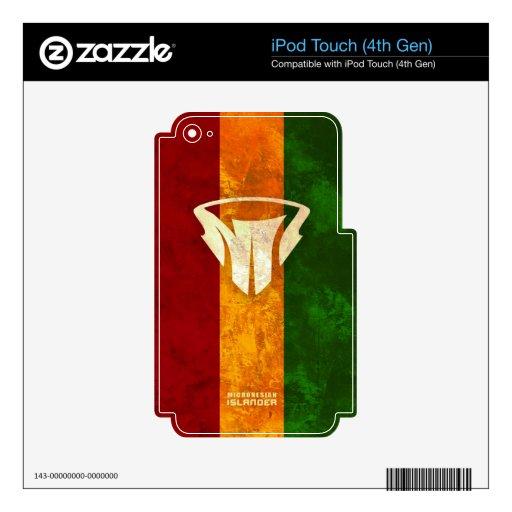 Cubiertas de Rasta del teléfono y de la tableta de Calcomanía Para iPod Touch 4G