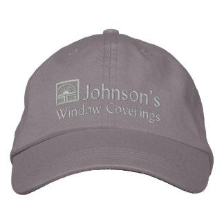 Cubiertas de ventana bordadas gorra bordada
