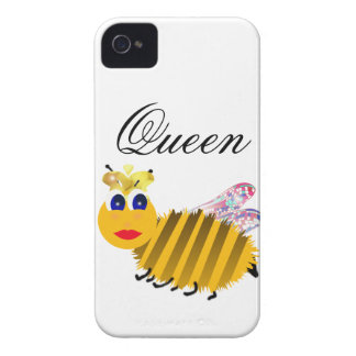 Cubiertas del iphone de la abeja reina iPhone 4 Case-Mate funda