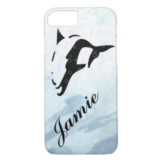 cubiertas del iphone del DELFÍN del agua azul Funda iPhone 7