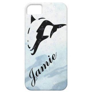 cubiertas del iphone del DELFÍN del agua azul iPhone 5 Fundas