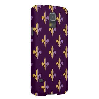 Cubiertas del teléfono de la flor de lis de la fundas para galaxy s5