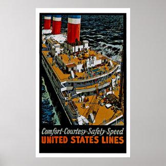 Cubiertas del top del leviatán de los SS Poster