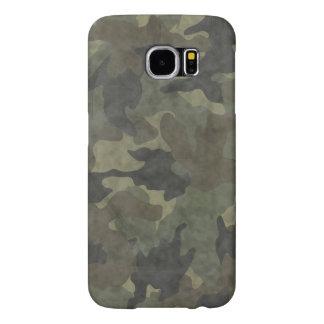 Cubiertas delgadas de color caqui del caso de Camo Fundas Samsung Galaxy S6