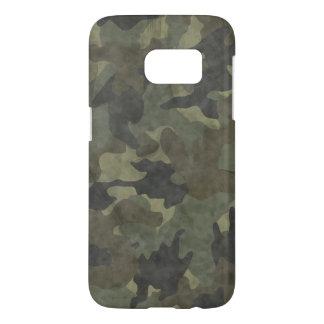 Cubiertas delgadas de color caqui del caso de Camo Fundas Samsung Galaxy S7
